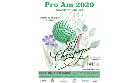 Nous voilà de retour ! L'édition 2020 aura bien lieu.  Habituellement organisé début juillet, le ProAm du Golf de Champagne s'adapte aux circonstances exceptionnelles.  Dans le respect des mesures sanitaires imposées, nous vous invitons à participer à cette belle journée devenue le rendez-vous annuel des Pros & de leurs équipes. Ne pouvant vous ouvrir notre table à tous, c'est la table qui viendra à vous !